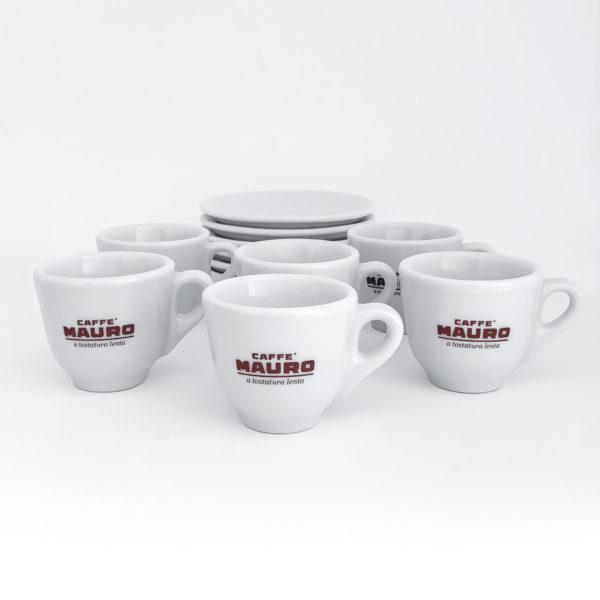 caffe mauro espresso cups six